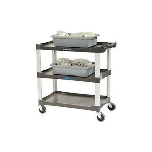 Lakeside 2503 36 wx18 1 2 dx35 h 3 Tier Bus Cart Black
