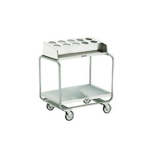 Lakeside 213 Stainless Steel Tubular U frame Tray Silver Cart