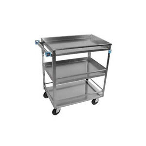 Lakeside 526 19 x31 x33 3 4 Stainless Steel Utility Cart