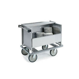 Lakeside 707 39 1 2 x24 x31 1 2 Stainless Steel Store N Carry Dish Truck
