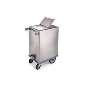 Lakeside 250 34 1 4 Stainless Steel Mobile Ice Bin W Hinged Cover