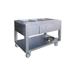 Lakeside Pbst3w 3 Well Electric Extreme Duty Electric Steam Table 120v