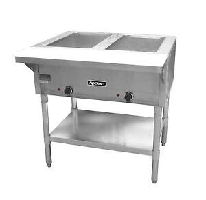 Adcraft St 120 2 Commercial 2 Well 120v Electric Steam Table W Cutting Board
