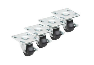 Krowne Metal Bc 130 1 Ultra Low Profile Casters With Brakes Set Of 4