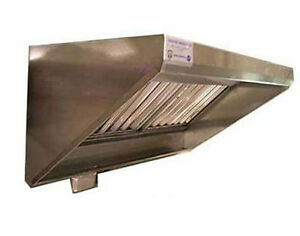 Superior Hoods 6ft Stainless Steel Concession Range Grease Hood Nsf Nfpa96