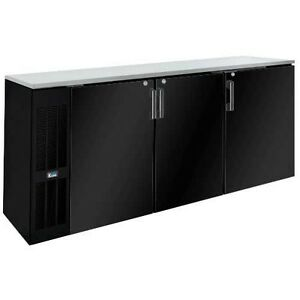 Krowne Metal Bs84l 84 Back Bar Cabinet W Left Self contained Refrigeration