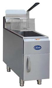 Globe Gf15pg 15lb Countertop Lp Stainless Steel Deep Fryer 26500 Btus