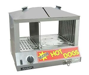 Adcraft Hds 1200w Countertop Hot Dog Steamer merchandiser Bun Warmer 1200w