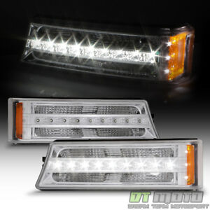 2003 2006 Chevy Silverado Avalanche Led Bumper Signal Lights Parking Lamps 03 06