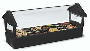 Carlisle 660103 6ft Salad Food Bar Table Top Portable W Sneeze Guard