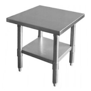 Thunder Group Slwt42418f Flat Top Work Table Stainless Steel 24 X 18 X 34