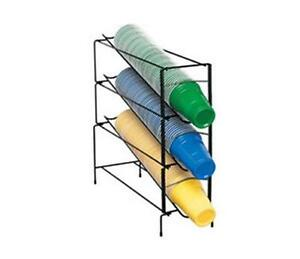 Dispense rite Wr ct 3 3 Section Wire Rack Cup Dispenser One Size Fits All