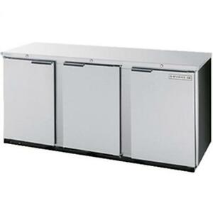 Beverage air Bb72hc 1 s 72in Solid Door Back bar Refrigerator Stainless Exterior