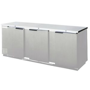 Beverage air Bb78hc 1 s 79in Solid Door Back bar Refrigerator Stainless Exterior