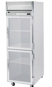 Beverage air Hf1 1hg 24 Cuft Horizon Series Glass 2 door Reach in Freezer