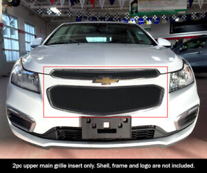 Fits 2015 Chevy Cruze Stainless Steel Black Mesh Main Upper Grille