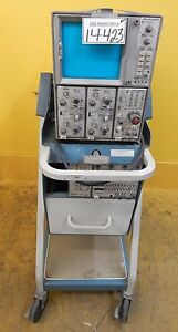 Tektronix 7603 Mobile Oscilloscope Scope mobile 203 2 Used Tested Working