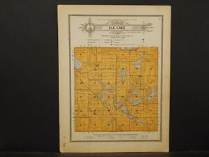 Minnesota Grant County Map 1914 Township Of Elk Lake Y1 05