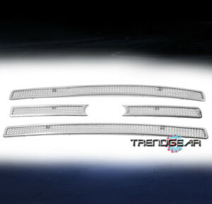 2007 2014 Ford Expedition Truck Front Upper Mesh Grille Grill Insert Chrome 4pcs
