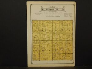 Minnesota Cottonwood County Map 1926 Township Of Highwater Y1 41