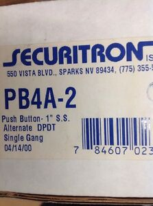 Securitron Pb4a 2 Push Button Mom Led Sg Dpdt Rte