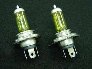 9003 H4 High Low Xenon Halogen Fog Driving Auto Light Bulbs Yellow