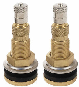 2 Tractor Air Liquid Water Tubeless Tire Brass Valve Stems Tr618a