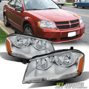 2008 2014 Dodge Avenger Sxt Se Replacement Headlights Headlamps 08 14 Left right