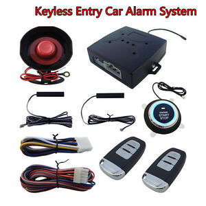 Autos Suv Alarm System Keyless Entry Engine Ignition Push Starter Button Kit