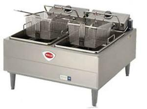 Wells F 30 30lb Split Pot Electric Countertop Fryer Thermostatic Cont
