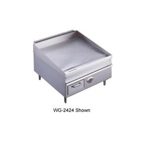 Wells 2424g 24 Natural Gas Thermostatic Countertop Griddle