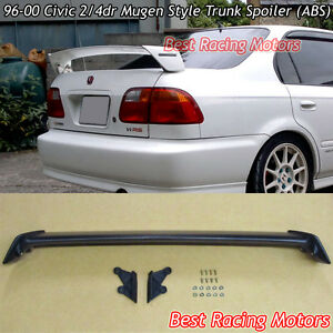 Mu gen Style Trunk Spoiler Wing abs Fits 96 00 Honda Civic 2 4dr