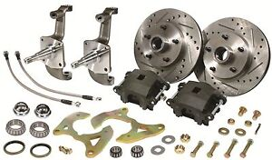1955 1956 1957 Chevy Bel Air 150 210 Disc Brake Kit Stock Height New Spindles