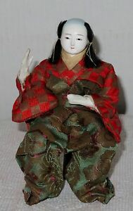 Antique Japanese Seated 6 3 8 Male A Musician Hina Doll Bh2 Ad4161415 8