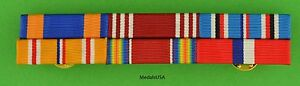 WWII Army Air Corps Philippines Asia Pacific Service Mounted 6 Ribbon Bar WW2 $19.49