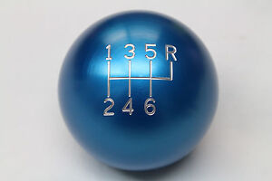 Camaro firebird Billet Aluminum Blue 6 Speed Manual Shift Knob New 2 25