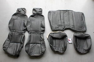 Firebird Trans Am Graphite Gray Leatherette Seat Covers New