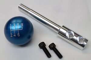 Camaro firebird Billet Aluminum Blue 6 Speed Shift Knob W Short Shifter Stick