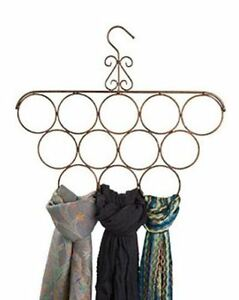 For Sale 6 Scarf Hanger Display Rack 12 Rings cobblestone Finished