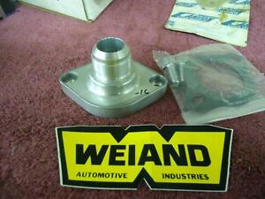 Weiand 8231 Water Outlet Chevy Small Block Big Block Blower 16 Thread