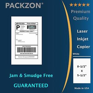 Shipping Labels 400 8 5x5 5 Straight Corner Self Adhesive 2 Per Sheet Packzon