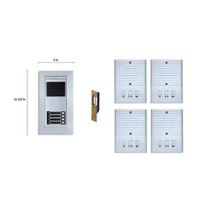 Apartment Entry System Retro series Kit Door Bell Panel 4 Room