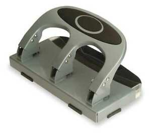 Officemate 90100 Heavy Duty Paper Punch three Hole silver