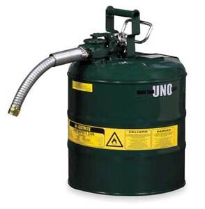 5 Gal Green Galvanized Steel Type Ii Safety Can For Oil Justrite 7250430