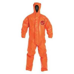 Tychem 6000fr Hooded Coverall orange open xl pk2 Dupont Tp198torxl000200