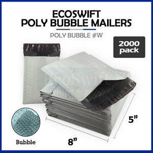 2000 000 4x8 Self Seal Poly Bubble Padded Envelopes 5 X 8 X wide Mailers Bags