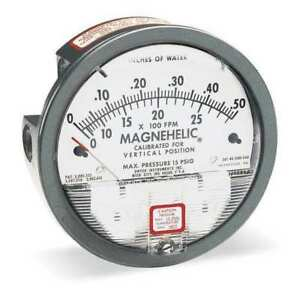Dwyer Magnehelic Pressure Gauge 0 To 2 Wc