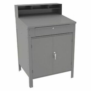 Tennsco Sr 58 Med Gray Shop Desk 34 1 2 X 53 X 29in Medium Gray