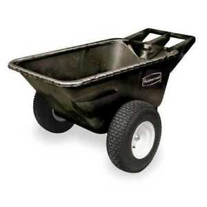 Big Wheel Cart hd 1 4 Cu Yd 700 Lb black Rubbermaid Fg564210bla