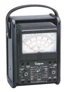 Analog Multimeter 1000v 10a 20m Ohms Simpson Electric 260 8prt